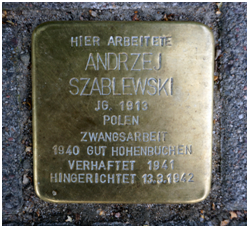 Andrzej Szablewski-Stolperstein